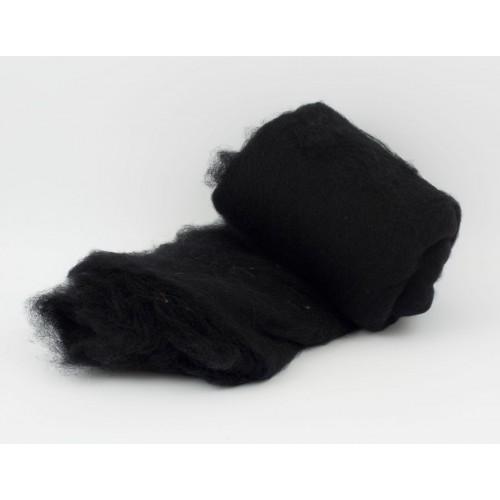 купить шерсть для валяния кардочесанную черную ROSA TALENT