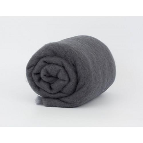 купить шерсть для валяния кардочесанную серую ROSA TALENT