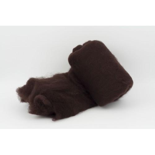 купить шерсть для валяния кардочесанную темно-коричневую ROSA TALENT