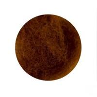 Шерсть для валяния кардочесанная Светло-коричневая ROSA TALENT, 10г
