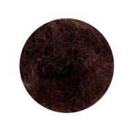 Шерсть для валяния кардочесанная Темно-коричневая ROSA TALENT, 10г