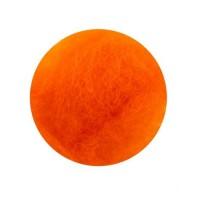 Шерсть для валяния кардочесанная Темно-оранжевая ROSA TALENT, 10г