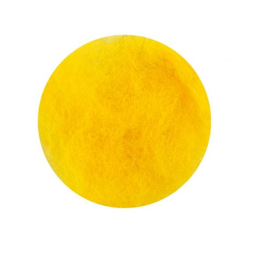 купить шерсть для валяния кардочесанную желтую ROSA TALENT