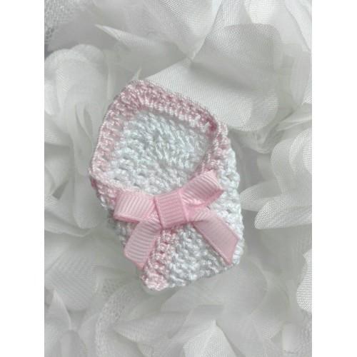 Вязаный декор Конверт для малыша светло-розовый фото
