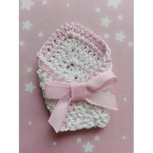Вязаный декор Конверт для малыша розовый