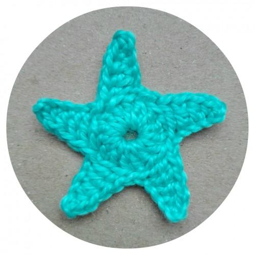 Вязаный декор Морская звезда фото
