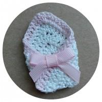 Вязаный декор Конверт для малыша Светло-розовый