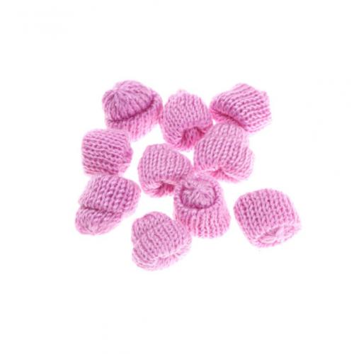 Вязаный декор Шапка розовая, 3,5 см