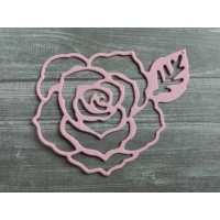 Вырубка из картона Роза, 6х5 см