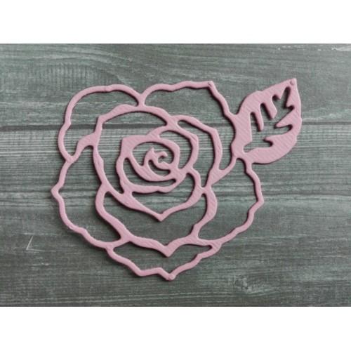 Вырубка из картона Роза 6х5 см фото