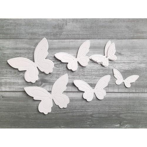 """Набор вырубки из акварельной бумаги """"Бабочки со строчкой """" фото"""
