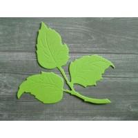 Вырубка из картона Лист розы, 7x7 см