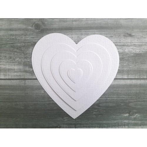 Набор вырубки из акварельной бумаги Сердечки, фото