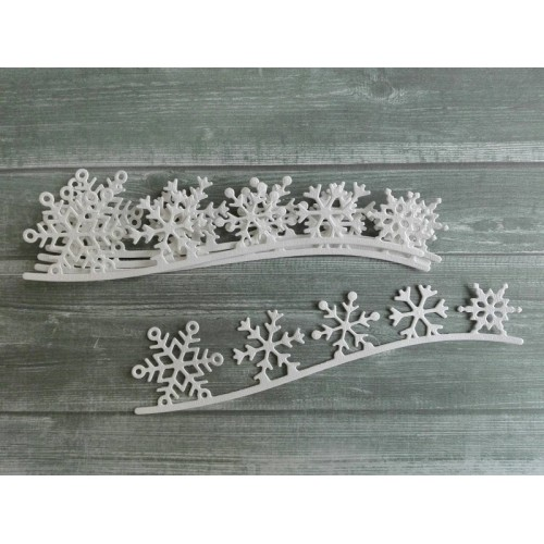 Набор вырубки из акварельной бумаги Снежинки фото