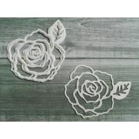 Набор вырубки из акварельной бумаги Роза, 5 шт