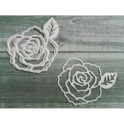 Набор вырубки из акварельной бумаги Роза фото