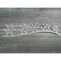 Вырубка из картона Снежинки, 11.5*2.5 см