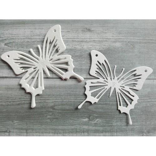 Набор вырубки из акварельной бумаги Бабочка, 5 шт