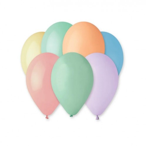 Воздушные шары пастель макарун ассорти, 10 штук