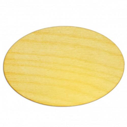 Деревянная заготовка для магнита Овал, 8,5*5,5 см