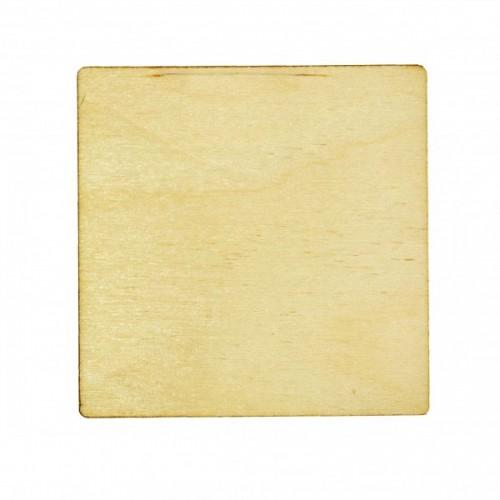 Деревянная заготовка для магнита Квадрат, 5,5*5,5 см