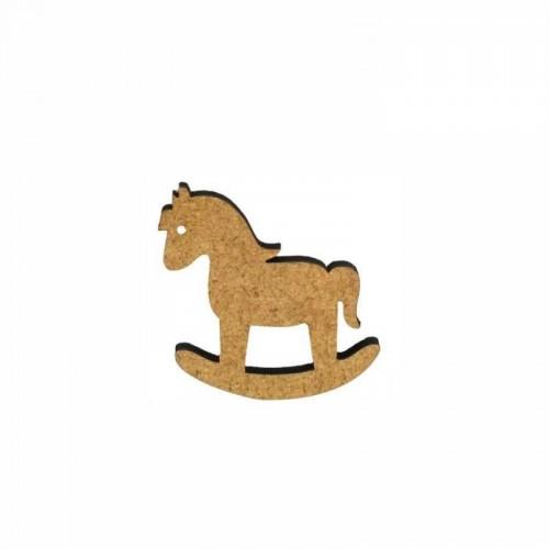 Деревянный декор Лошадка МДФ 4,1х4 см