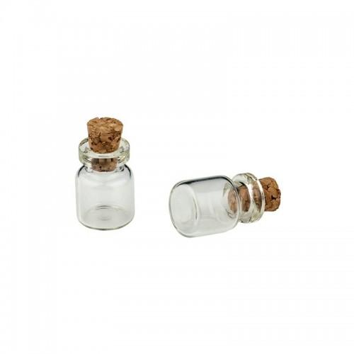 Стеклянная бутылочка с пробкой, 9 мл