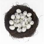 Яйцо пенопластовое мини для декора Белое, 4*3 см