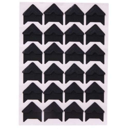 Самоклеющиеся уголки для фото Черные, 24 шт
