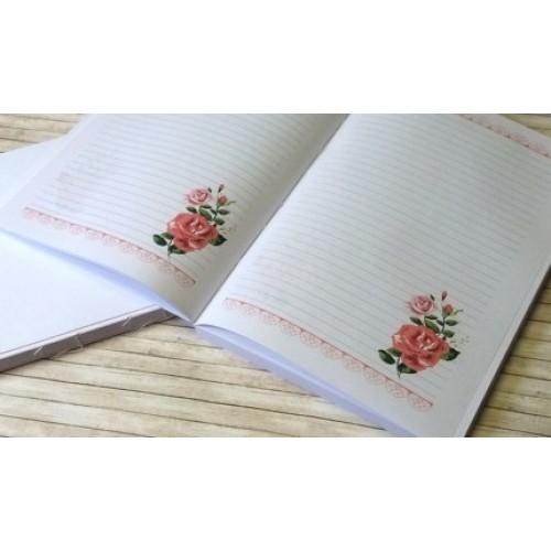 Блок для блокнотов с розой А5, ТМ Евгения Курдибановская