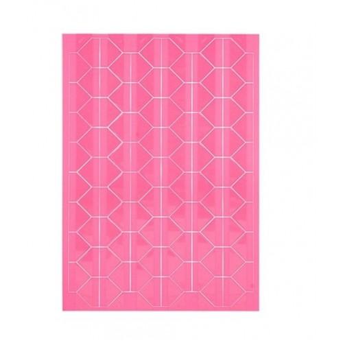 Самоклеющиеся уголки для фото Розовые, 102 шт