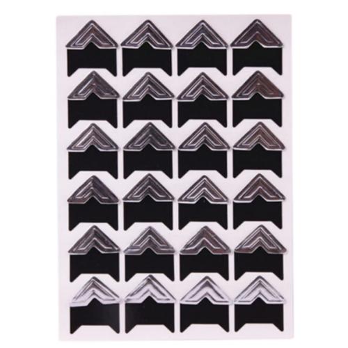 Самоклеющиеся уголки для фото Серебро, 24 шт